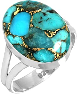 Turquoise Mignon Papillon Animal Girls Ring .925 Sterling Silver Band Taille 5-10