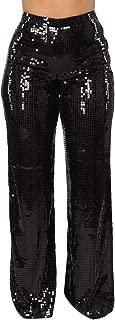 Women's Glitter Sequin High Waist Long Wide Leg Palazzo...