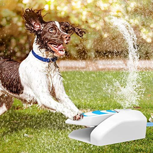 Pet Prime Haustier-Wasser-Berieselungsanlage für Hunde im Freien Einfach aktivierter Hundewasserbrunnen, automatischer Hundewasseraufsatz im Freien frisches kaltes Trinkwasser für Hunde