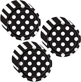 Best black and white polka dot paper plates Reviews