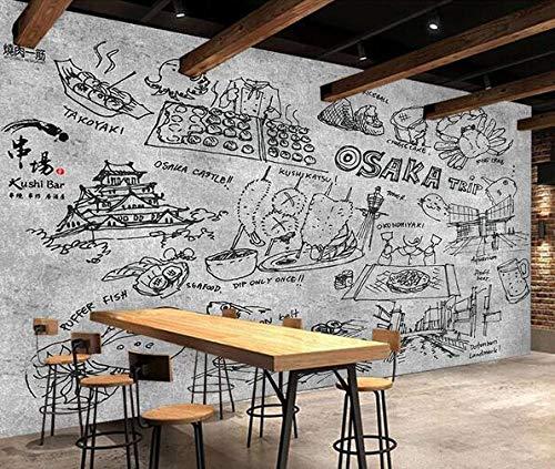 Muursticker muurschildering spiesen gegrild vlees een Muscle Poster Cafe Dessert Shop ijs Shop Pizza Shop Bakkerij Restaurant Photo wallpaper-150cmx105cm