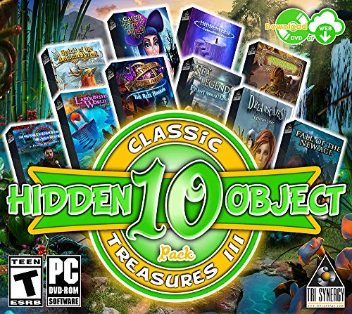 Hidden Object Classic Treasures 3 - 10 Great Games - Collectors Editions Included