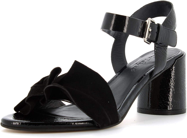 CRIS VERGRE' women's shoes heeled sandals EJ5605N BLACK