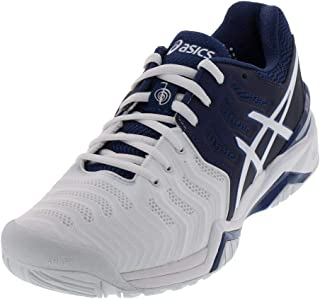 ASICS Gel Resolution 7 Novak Djokovic Men's Tennis Shoes Navy/White/Silver (8.5)