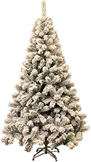 LYCIL White Flocked Xmas Tree,Simulation Snow Effect Artificial Christmas Tree Decoration PVC Hinged Easy Assembly Tree with Metal Stand-a 2ft-60cm