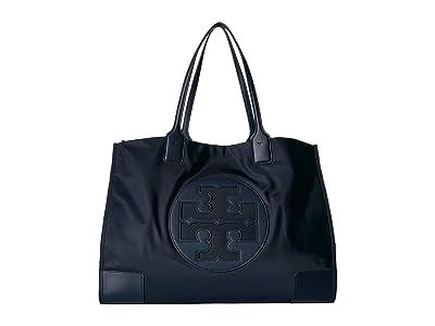 Tory Burch Ella Tote (Tory Navy) Handbags