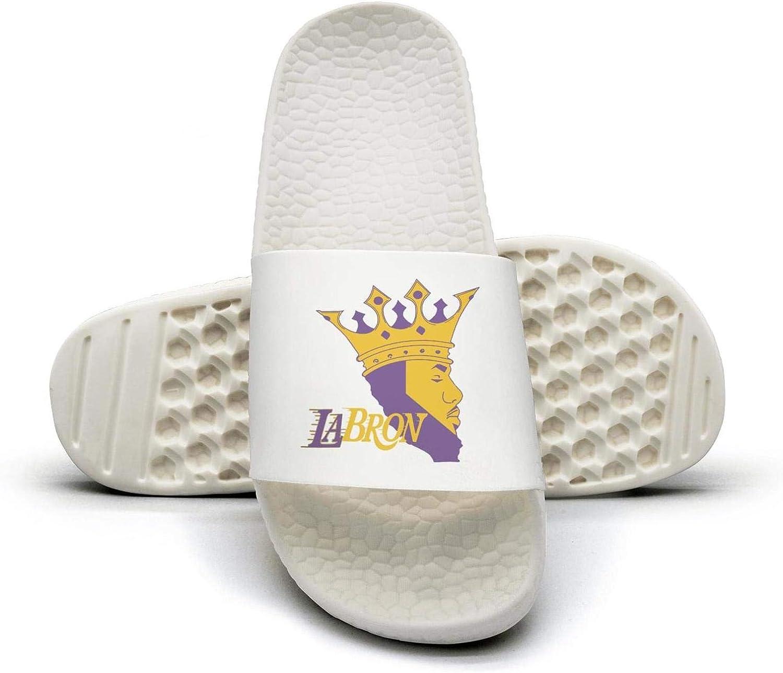 ADIDII Womens Printed Non-Slip Slipper Slide flip Flop Sandals CA_map_LABRON_Crown_Basketball Summer Soft