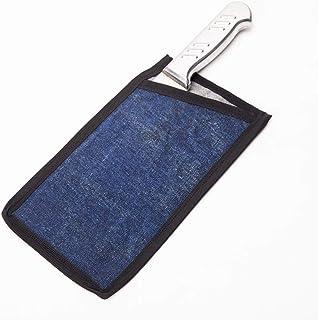 HANSHI - Protector de cuchillos de chef de 9.4 pulgadas, vainas de cuchillos resistentes, cuchillos anchos de carnicero, protectores de filo de cuchilla, protector de cuchillos 9.4X5inches azul