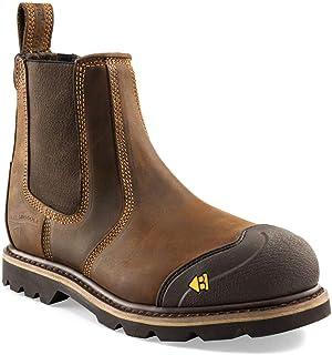 Buckler B1990SM Brown Safety Dealer Boots