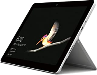 """Microsoft Surface Go, Intel-Pentium Gold, 4GB RAM, 64GB eMMC , 10"""" Touchscreen, 2 in 1Laptop, Windows 10 Home in S Mode, No Keyboard, Platinum(MHN-00006)Middle East Version"""