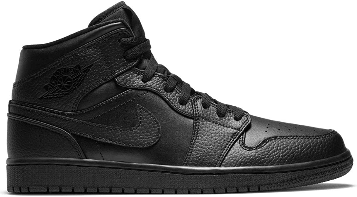 Nike AIR Jordan 1 Mid, Chaussure de Basketball Homme, Black/Black ...