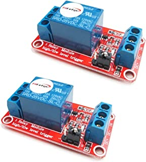 HiLetgo 2個セット 5V 1チャンネルリレーモジュール 5V 高低レベル トリガー [並行輸入品]