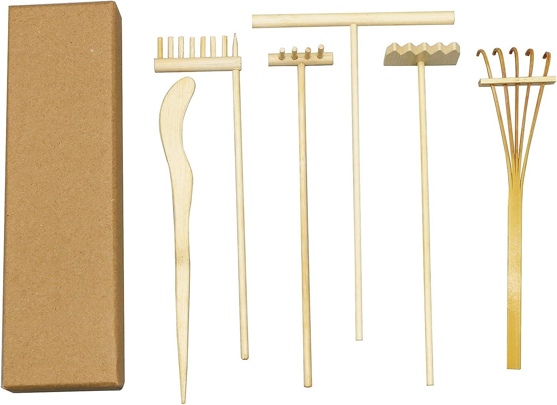 Mini Zen Garden Rake Kit - Meditation Sand Garden Zen Rake Tools - DIY Rock Zen Garden Kit Sets, Fidget Toy, Zen Garden Accessory,Father's Gift,Man's Gifts,Mother's Gifts (Rake Sets)