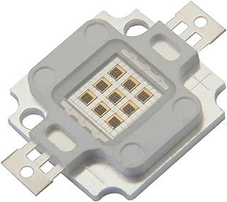 Chanzon High Power Led Chip 10W Infrared (IR 940nm/Input 900mA/DC 4V-5V/10 Watt) SMD COB Light Emitter Diode Components 10 W Night Vision Bulb Lamp Beads for DIY Lighting/CCTV Cameras