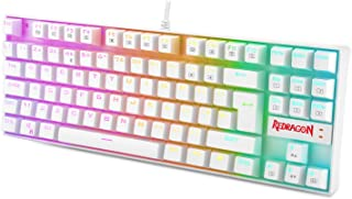Redragon K552 60% Mechanical Gaming Keyboard RGB Backlit Wired with Red Switches Cherry MX Equivalent for Windows Gaming P...