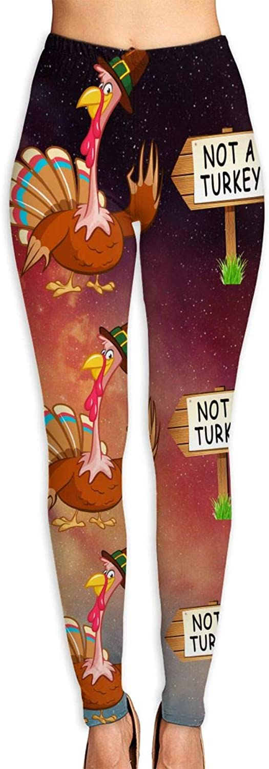 Thanksgiving Not A Turkey Gift Yoga Pants Tummy Control Workout Running Yoga Leggings