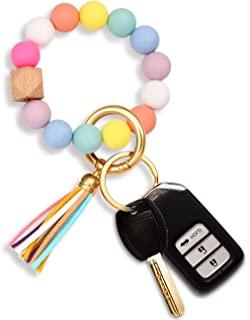 دستگیره حلقه کلید سیلیکونی دستبند مهره ای Keychain قابل حمل خانه کلید حلقه دار