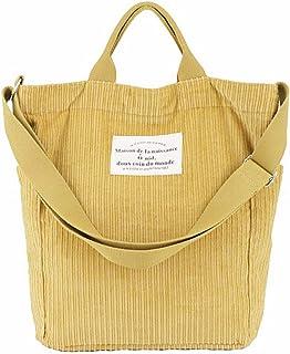 BOBILIKE Damen-Schulter-Handtaschen aus Cord, Crossbody-Tasche für Arbeit und Schule