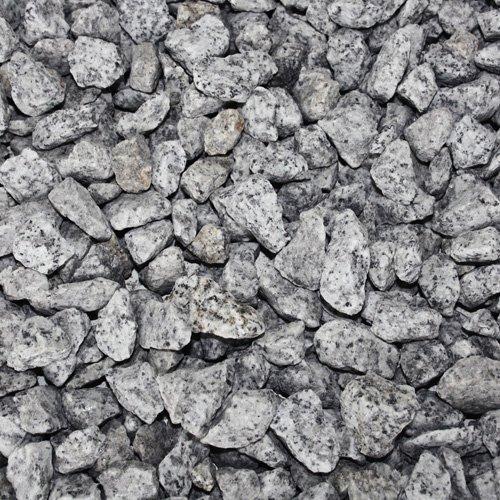 PALIGO Granit Splitt Zier Edel Kies Deko Stein Garten Natur Kiesel Dekor Grau Grob 16-22mm 20kg x 50 Sack 1.000kg / 1 Palette Galamio