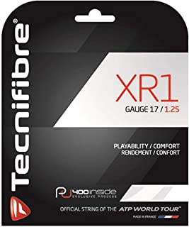 Tecnifibre XR1 125 Tennis Strings Mens Squash White Indoor Sports Accessories N