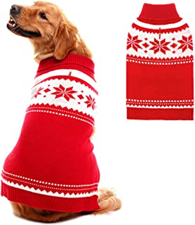 Mihachi Dog Sweater - Winter Coat Apparel Clothes with Colorful Stripes for Cold Weather