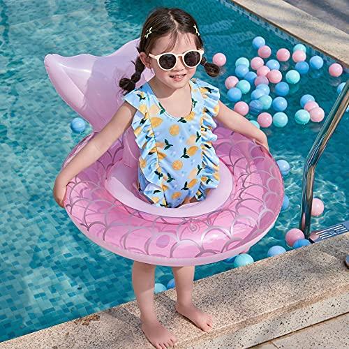 BETOY Anillo de natación Bebe, Anillo de natación Inflable, Sirena De Natación Inflable del Bebé De La, Flotador de Piscina para Bebés Verano al Aire Libre para Niños Playa Juegos de Fiestas