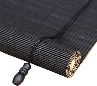 Bamboe jaloezieën Rolgordijnen Zwarte gordijnen Bamboe gordijnen met zwarte schroefdraad Grote gordijnen met zwarte schroe...