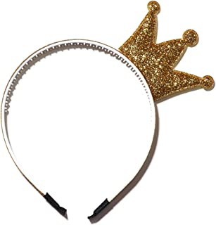 glitter crown headband