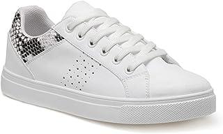 CS20018 Yılan Rengi Kadın Sneaker Ayakkabı