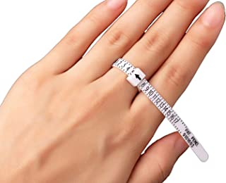 Finger US Ring Sizer Gauge (1-17 USA Sizes) for Women, Men & Kids / Measure Your Ring Size @ Home