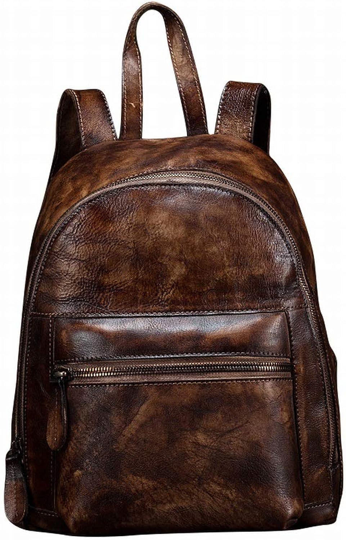 Lightlila Damen Big Bag, Rucksack Outdoor Freizeit Rucksack aus weichem Leder (Farbe   braun)