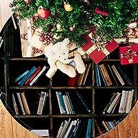 ツリースカート クリスマスツリースカート 本棚 読み 知識 ホリデーデコレーション メリイクリスマス飾り 下敷物 可愛い 雰囲気 クリスマスパーティー 直径77cm