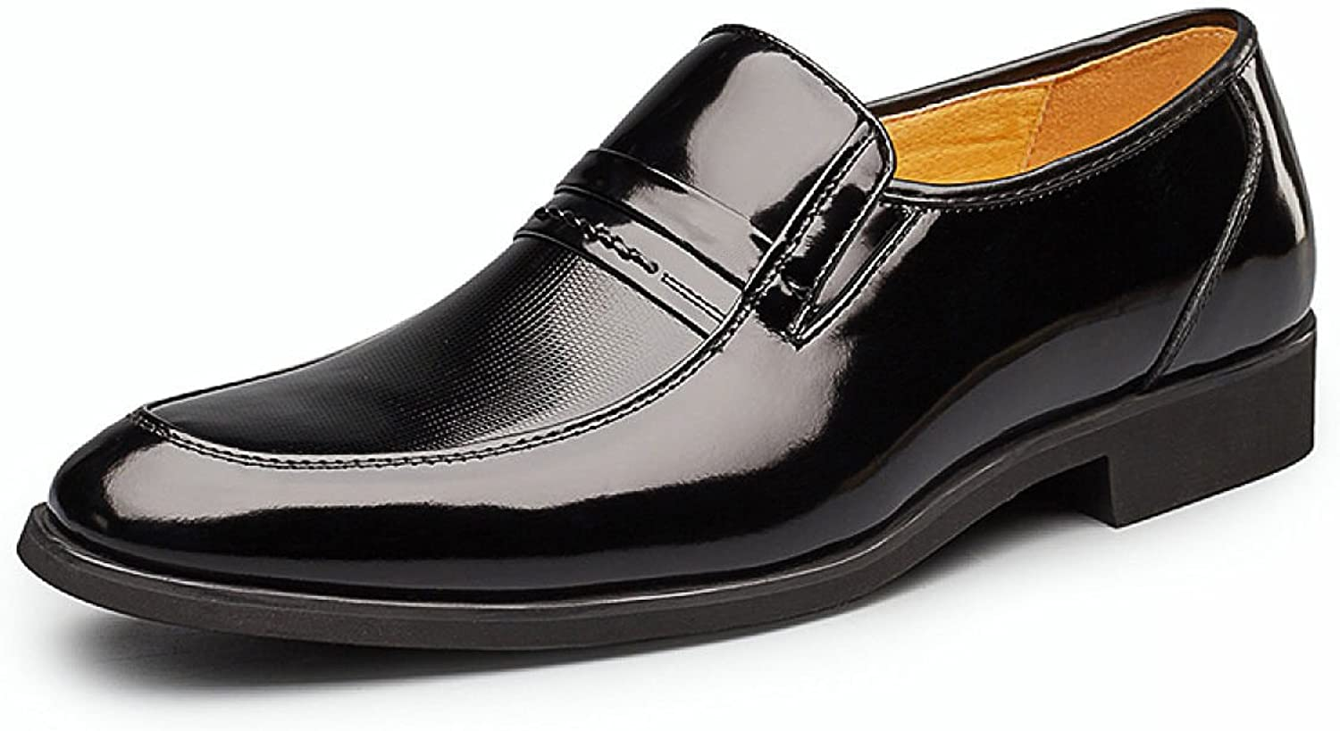 MUYII Oxfords Dress Leather shoes For Men Men's Plain Toe Business Loafer Paten shoes Casual Mens shoes