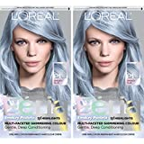 L'Oreal Paris Feria Multi-Faceted Shimmering Permanent Hair Color, Pastels, Sapphire Smoke, Pack of 2, Hair Dye