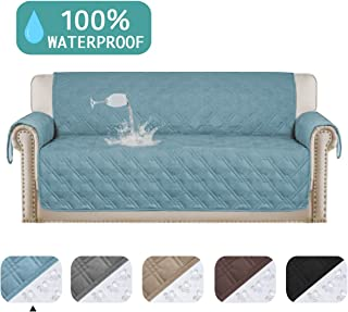 100% Waterproof Sofa Covers for 3 Cushion Couch Cover Perfect for Leather Pet Furniture Protector, Non-Slip, Stain Resistant, Quilted Furniture Sofa Covers for Living Room (Sofa, 75