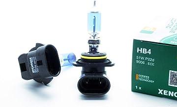 2 x halogeenlamp HB4 P22d 9006, 51 W, 12 V, wit, 5000 K, xenon-effect, dimlicht