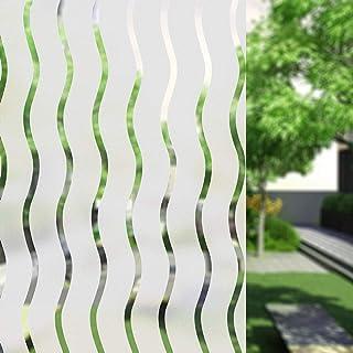 UMI.3D Adhésif électrostatique Films pour Fenêtre pour Armoire de Porte de Cuisine de Chambre à Coucher (Vague) (90 x 200 cm)