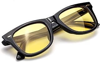 Myiaur Night Glasses Driving Anti Glare for Women, HD Polarized Yellow Lens Cloudy/Rainy/Foggy/Nighttime