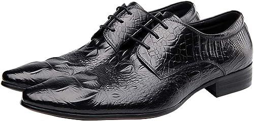 Chaussures D'affaires Hommes, Hommes En Cuir De Mariage à Lacets Chaussures Formelles Bout Pointu Bureau à La Mode Floral Vintage Chaussures Décontractées 4-11UK