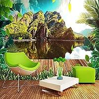 3D壁紙壁画自然風景画リビングルーム寝室テレビ背景画像壁紙家の装飾-400x280cm