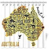 Bad Vorhang Typografie Poster Australien Karte Australien