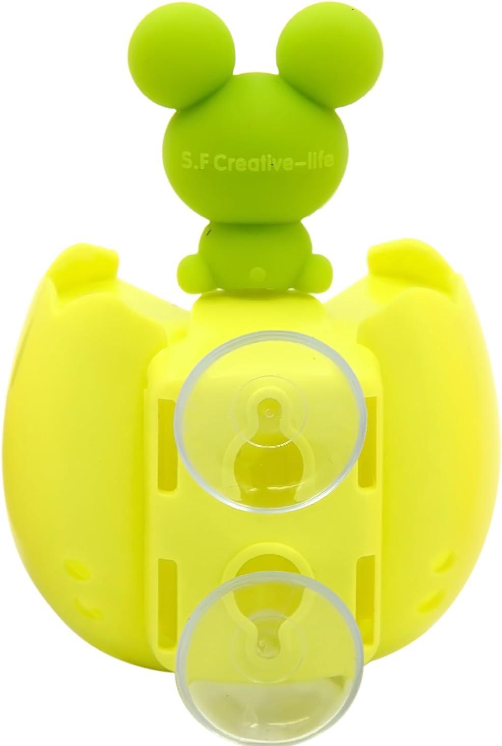 Uovo Forma Fumetto Animale Spazzolino Titolare Rack Stand con Ventosa Due Servizi Igienici Requisiti Frog