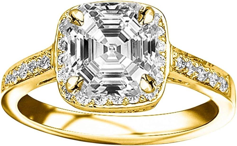 Surprise price 1.75 Ctw 14K White Gold Classic Certified Halo GIA Inexpensive Square Design