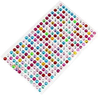 Supvox Etiqueta engomada de cristal Rhinestone Flatback para la ropa de bricolaje Accesorios de la bolsa de diamantes Pasta para auto de 6 mm (504 diamantes, coloridos)