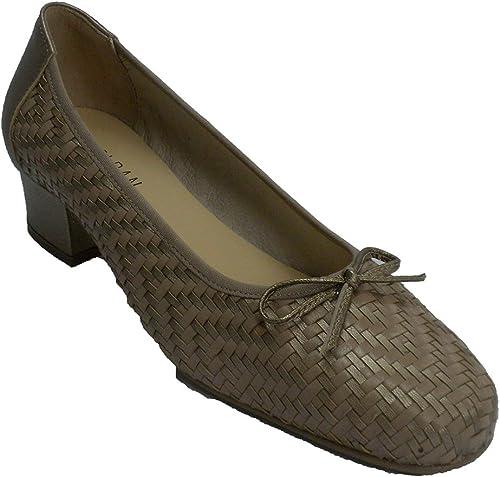 Zapato Vestir mujer Tipo Manoletinas Trenzado Roldán en Dorado