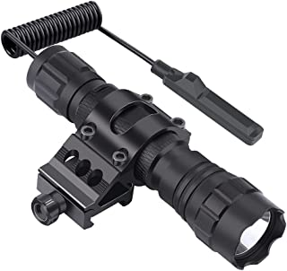 Feyachi FL11-MB Tactical Flashlight 1200 Lumen Matte Black LED Weapon Light with..