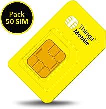 Things Mobile sin costes fijos y sin vencimiento Tarjeta SIM para GPS TRACKER in ESPA/ÑA con cobertura global y red multioperador GSM//2G//3G//4G LTE 10 /€ de cr/édito incluido