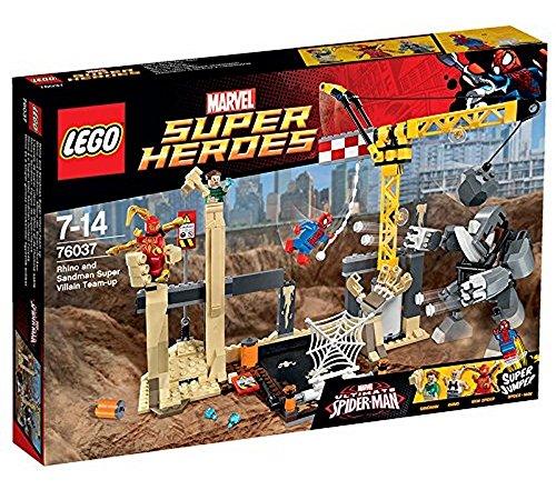 LEGO - Rhino y Sandman: equipo de Supervillanos, multicolor (76037) , Modelos/colores Surtidos, 1 Unidad