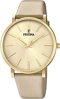 Festina watches Womens Analog Quartz Watch with Leather bracelet F20372/2