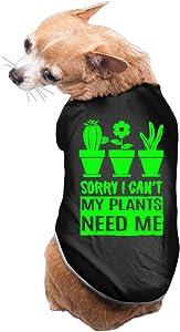 Sorry I Can't My Plants Need Me Cute Dog Shirt Black